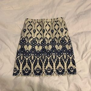 Jcrew patterned skirt